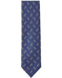 Brioni Tie And Pocket Square Set - Blauw