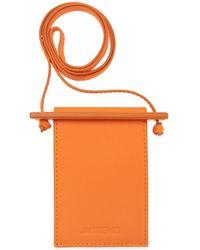 Jacquemus 'le Porte Terra' Strapped Card Case - Oranje