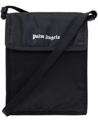 Palm Angels Schoudertas Met Logo - Zwart