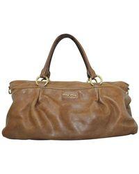 Miu Miu Vintage Leather Handbag - Bruin
