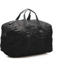 Valentino Tessuto Travel Bag Negro