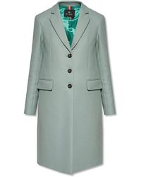 PS by Paul Smith Coat With Notch Lapels - Groen