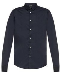 Emporio Armani Katoenen Shirt - Blauw