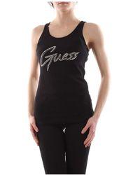 Guess W0Gi73 K1810 T Shirt AND Tank Women Nero - Noir