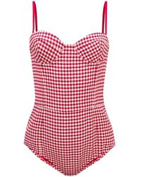 RED Valentino Patterned body on straps - Rouge