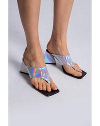 The Attico 'Devon' heeled flip-flops - Gris