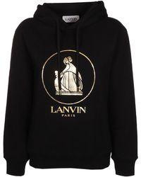 Lanvin Hoodie With Logo - Zwart