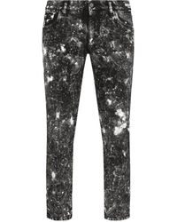 Dolce & Gabbana Cropped Distressed Jeans - Zwart