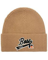BOSS by HUGO BOSS Hat with logo - Marrón