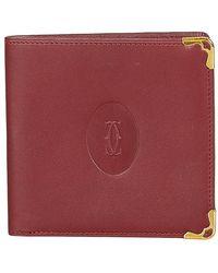 Cartier Must De Kleine Portemonnee Leer Kalf - Rood