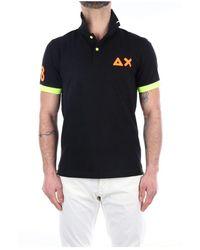 Sun 68 A31120 Short Sleeves Polo - Zwart