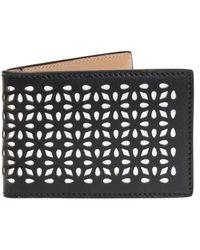Alaïa Bi-fold card case - Noir