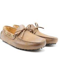 Car Shoe Mocassini Driving Shoes - Marron