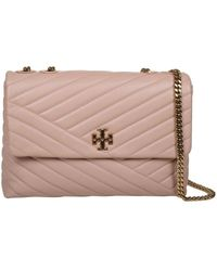 Tory Burch Kira Shoulder Bag Leather - Naturel