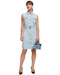 Karl Lagerfeld Short Dress With Belt - Blauw