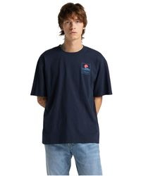 Edwin 45121mc000131 Mt Fuji Ts T-shirt - Blauw