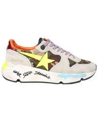 Golden Goose Deluxe Brand Leder Sneakers Running Model Zon - Wit