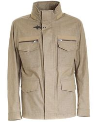 Fay Field Jacket - Naturel