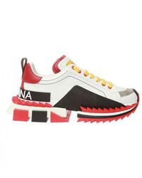 Dolce & Gabbana Super King Sneakers - Wit