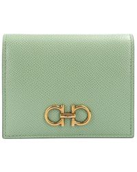 Ferragamo Leather wallet with logo - Vert