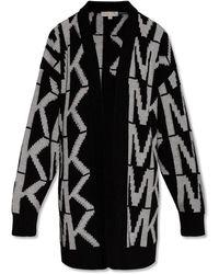 Michael Kors Cardigan With Logo - Zwart
