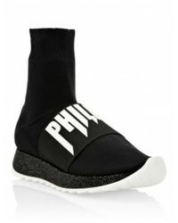 Philipp Plein Zapatilla sock - Noir