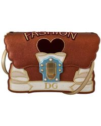 Dolce & Gabbana Lucia Mode Schoudertas - Bruin