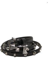 Karl Lagerfeld Cintura di pelle delle donne - Nero