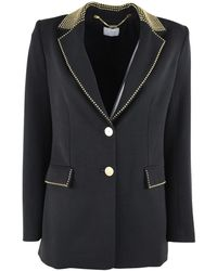 Clips Single-breasted Jacket - Zwart