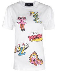 DOMREBEL T-shirt luxury - Blanco