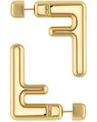 Fendi Earrings With Ff Logo - Geel