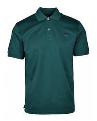 Prada Poloshirt Met Logo - Groen