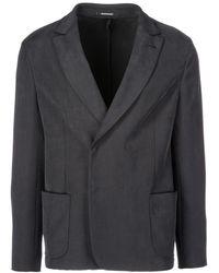 Emporio Armani Men's Double Breasted Jacket Blazer - Grijs
