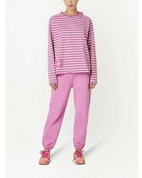 Marc Jacobs Striped T-Shirt - Rose