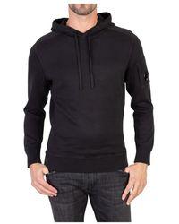 Patou Sweatshirt Light Fleece Pullover Lens Hoodie - Zwart