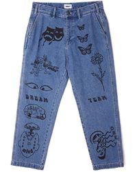 Obey Hardwork Printed Carpenter Pants - Blauw