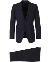 Tom Ford Wol Slim Suit - Blauw