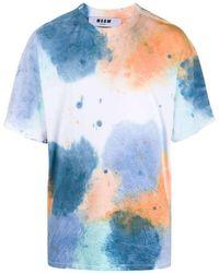 MSGM - Tshirt con stampa - Lyst