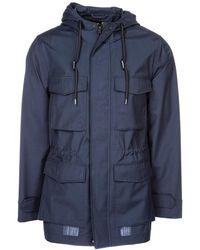 Emporio Armani Men's Outerwear Jacket Blouson Hood - Blauw