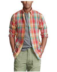 Polo Ralph Lauren Camisa Madras Custom Fit Multicolor - Rood