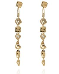 Givenchy Drop Earrings With Logo - Geel