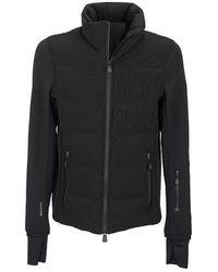Moncler Sweater With Front Padding Jacket - Zwart