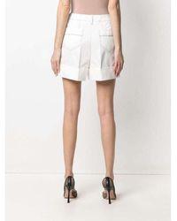Alexander McQueen Shorts Blanco