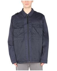 MA.STRUM Shirt With ZIP - Blau