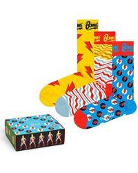Happy Socks 3-pack Bowie Gift Set Socks - Geel