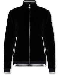 Moncler Velvet sweatshirt with logo - Schwarz