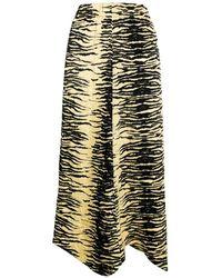 Ganni Crikled Skirt - Geel