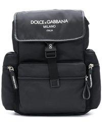 Dolce & Gabbana Rugtasken Printed Backpack - Zwart