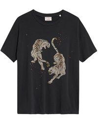 Catwalk Junkie T-shirt Tigre - Grigio