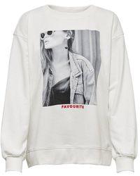 ONLY Sweatshirt Fotoprint - Wit